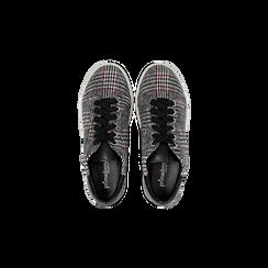 Sneakers Tweed con tacco basso, Primadonna, 122915602TSNEGR, 004 preview