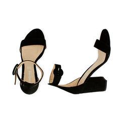Sandali neri in camoscio, tacco 8,5 cm, Primadonna, 15D600501CMNERO041, 003 preview