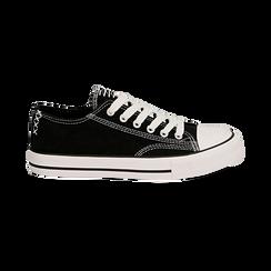 Sneakers nere in canvas, Scarpe, 137300862CANERO035, 001 preview