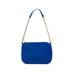 Borsa a tracolla blu cobalto in microfibra, Primadonna, 155127201MFBLCOUNI, 001 preview