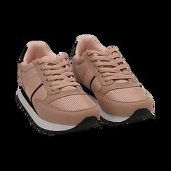 Sneakers nude in tessuto tecnico, Primadonna, 162619079TSNUDE035, 002 preview