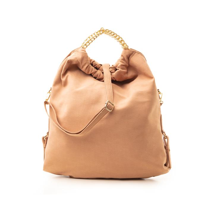 Maxi-bag nude in microfibra , Borse, 132403282MFNUDEUNI