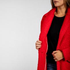 Cappotto lungo rosso lavorazione shearling, Abbigliamento, 12G750756TSROSS, 004 preview
