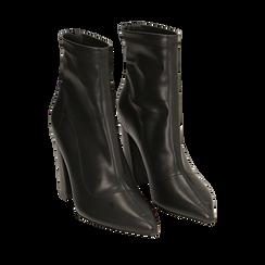 Ankle boots neri, tacco 9 cm , 164823107EPNERO036, 002a