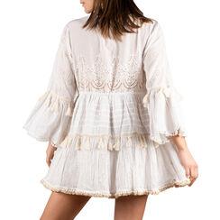 Caftan blanc en tissu, Primadonna, 150500008TSBIANUNI, 002a