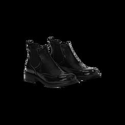 Chelsea Boots neri vernice, lavorazione Duilio, Scarpe, 120618206VENERO040, 002 preview