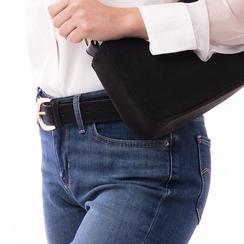 Cintura nera in microfibra, Abbigliamento, 144045710MFNEROUNI, 002 preview