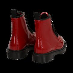 Anfibi rossi in vernice, Stivaletti, 142801501VEROSS036, 004 preview