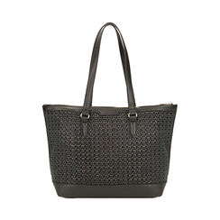 Maxi-bag nera intrecciata, Primadonna, 172301047EPNEROUNI, 001 preview