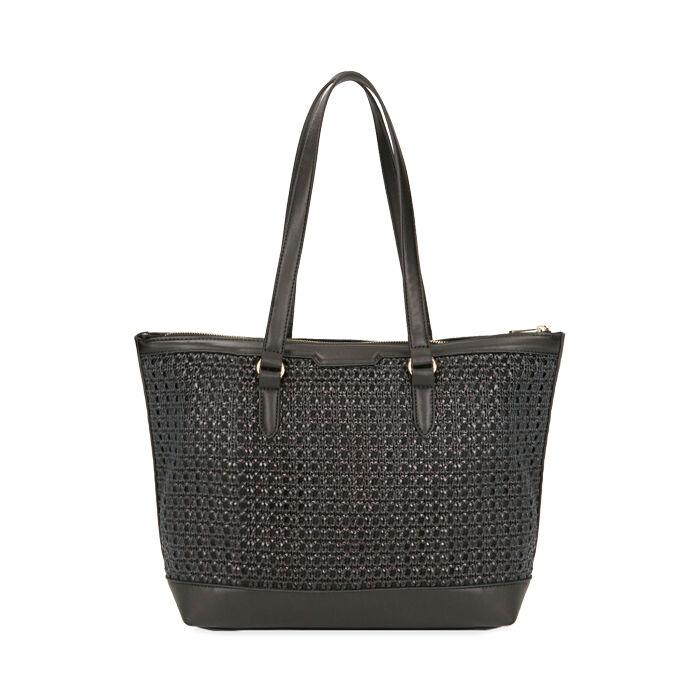 Maxi-bag nera intrecciata, Primadonna, 172301047EPNEROUNI