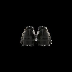 Francesine nere donna in vera pelle, Scarpe, 127710635PENERO, 003 preview
