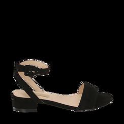 CALZATURA FLAT MICROFIBRA NERO, Chaussures, 154819193MFNERO038, 001a