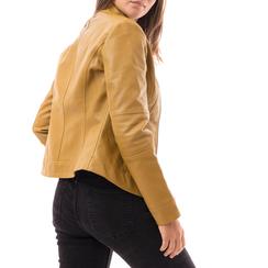 Biker jacket gialla in eco-pelle, Abbigliamento, 146500127EPGIAL3XL, 002a
