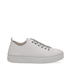 Sneakers bianche in eco-pelle, Scarpe, 132500778EPBIAN036, 001a