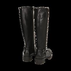 Stivali flat neri, tacco 4 cm , Primadonna, 160621682EPNERO036, 003 preview