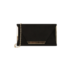 Petit sac en microfibre noir, IDEE REGALO, 165123002MFNEROUNI, 001 preview