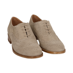 Derbies taupe en Nubuck, Chaussures, 159908418CMTAUP037, 002 preview