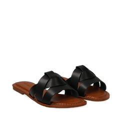 Mules nere in eco-pelle, Primadonna, 133661443EPNERO035, 002a