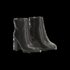 Tronchetti neri, tacco medio 5 cm, Scarpe, 122762715EPNERO, 002 preview
