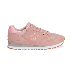 Sneakers rosa in microfibra , Scarpe, 132619078MFROSA036, 001 preview