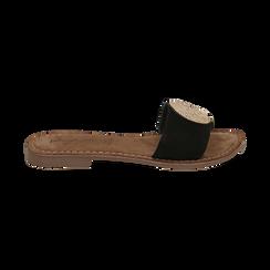 Ciabatte nere in camoscio , Scarpe, 15K808250CMNERO036, 001 preview