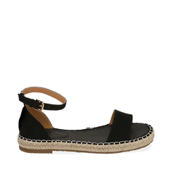 WOMEN SHOES ESPADRILLAS MICROFIBER NERO, Chaussures, 154913061MFNERO035, 001a
