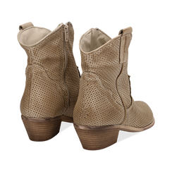 Stivali Texas traforati beige in vitello , Scarpe, 138900077VIBEIG036, 004 preview