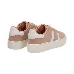 Sneakers rosa in microfibra stile vintage Seventies, Scarpe, 130101157MFROSA036, 004 preview
