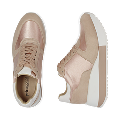 Dad shoes en satin nude, Chaussures, 152821511RSNUDE, 003 preview