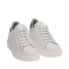 Baskets en cuir blanc/noir, Primadonna, 17L600103PEBINE035, 002a