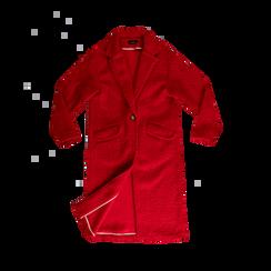 Cappotto lungo rosso lavorazione shearling, Abbigliamento, 12G750756TSROSS, 001 preview