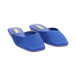 Sabot blu in raso, Primadonna, 174980111RSBLUE035, 002 preview