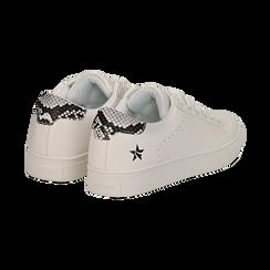 Sneakers bianche in eco-pelle dettaglio snake, Scarpe, 132619071EPBIAN036, 004 preview