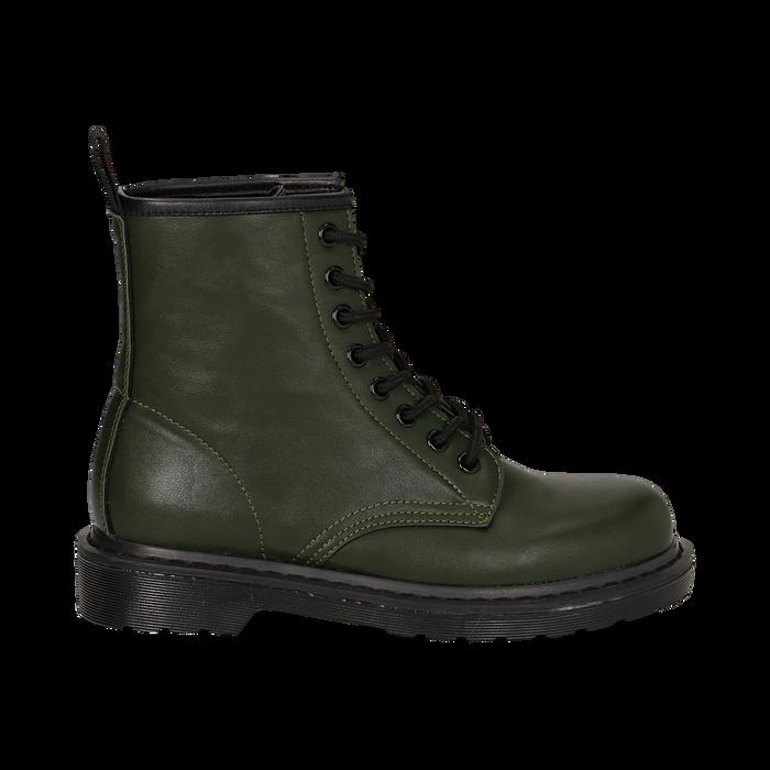 Botas militares en color verde, Primadonna, 162801501EPVERD036