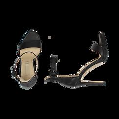 Sandali neri, tacco 11 cm, Primadonna, 152123343EPNERO037, 003 preview