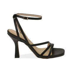 Sandales noires, talon de 9,5 cm, Primadonna, 172183653EPNERO036, 001 preview
