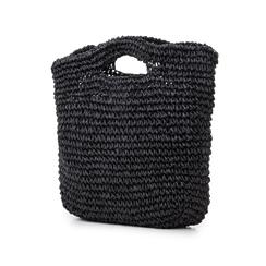 Borsa grande mare nera in paglia intrecciata, Primadonna, 134510176PGNEROUNI, 004 preview