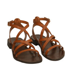 Sandales en cuir de vachette, Primadonna, 15D620006VACUOI036, 002a