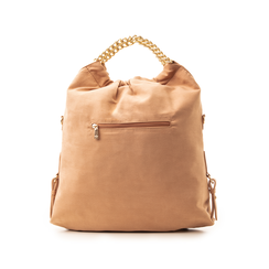 Maxi-bag nude in microfibra , Borse, 132403282MFNUDEUNI, 003 preview