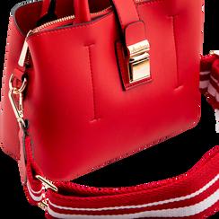 Mini bag rossa in ecopelle con tracolla a bandoliera, Borse, 122429139EPROSSUNI, 004 preview