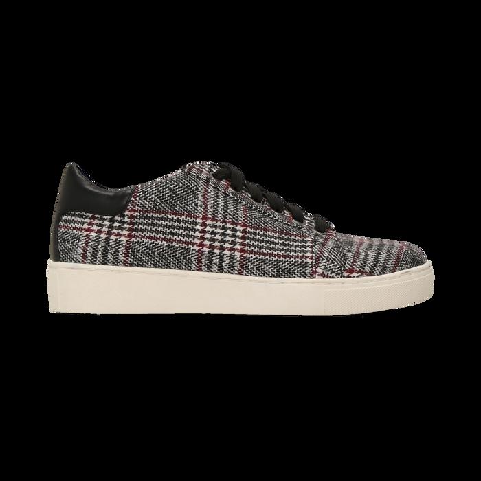 Sneakers Tweed con tacco basso, Primadonna, 122915602TSNEGR