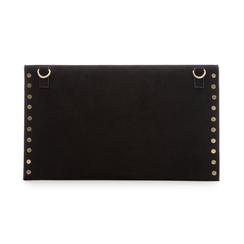 Pochette borchiata nera in microfibra, Borse, 133302219MFNEROUNI, 003 preview