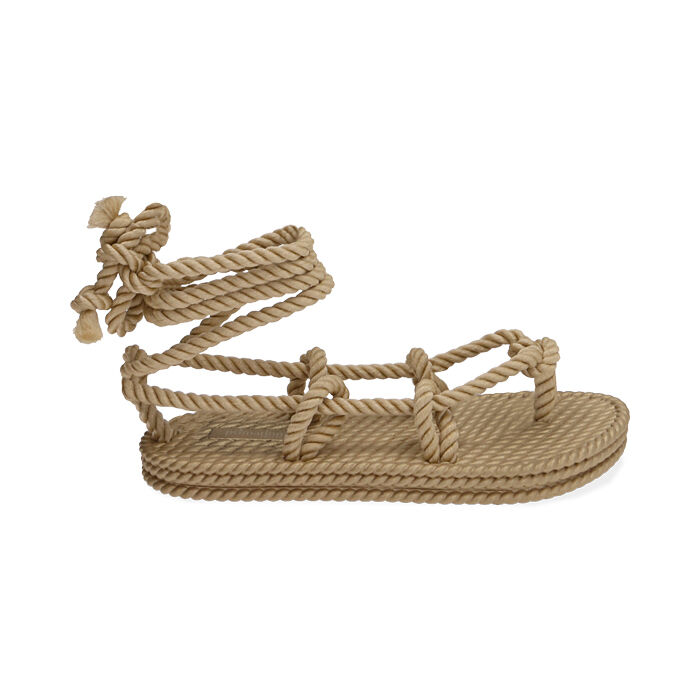 Sandalias de mar beige de tela, Primadonna, 170909004TSBEIG035