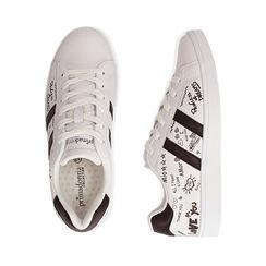 Sneakers bianche con scritte cartoon, Scarpe, 172621103EPBIAN035, 003 preview