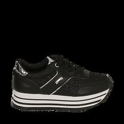 Sneakers platform nere, Scarpe, 157310037EPNERO035, 001a