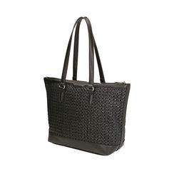 Maxi-bolso trenzado negro, Primadonna, 172301047EPNEROUNI, 002a