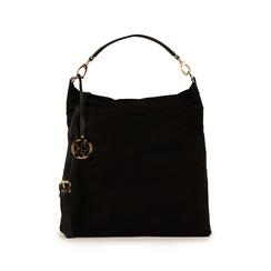 Maxi-bag nera in microfibra, Primadonna, 15D208513MFNEROUNI, 001 preview