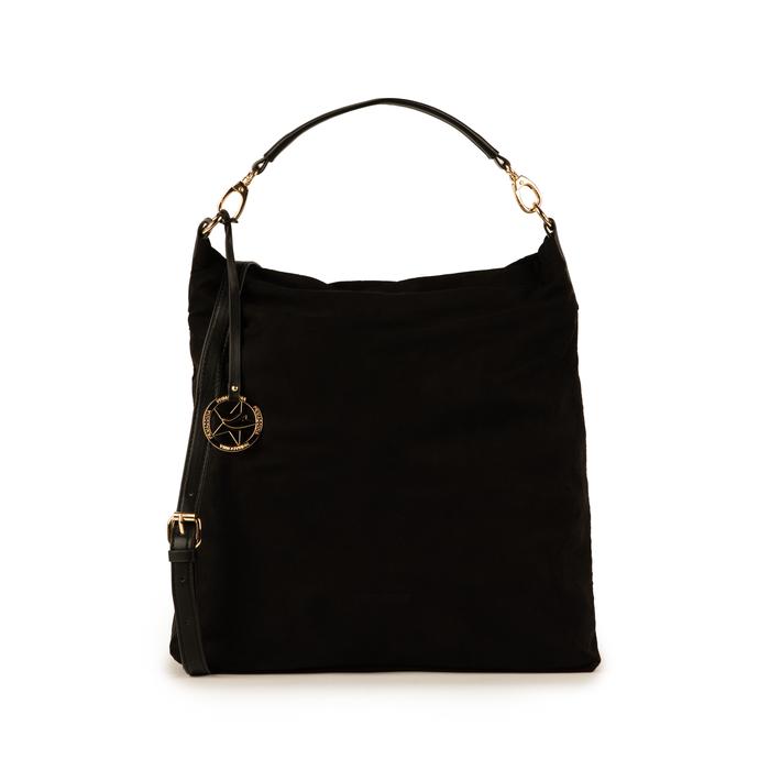 Maxi-bag nera in microfibra, Primadonna, 15D208513MFNEROUNI