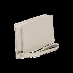 Portafoglio bianco in eco-pelle con laccetto per il polso, Borse, 133723431EPBIANUNI, 002 preview