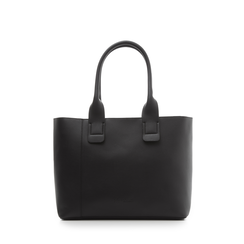 Borsa media nero in eco-pelle, Borse, 133763771EPNEROUNI, 001a